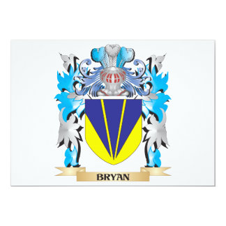Bryan Coat of Arms 5x7 Paper Invitation Card