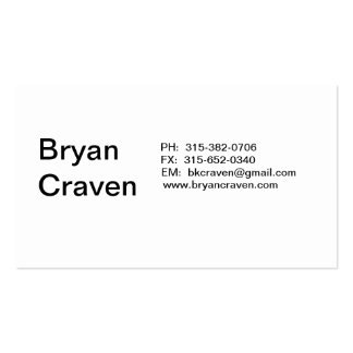 Bryan Craven Double-Sided Standard Business Cards (Pack Of 100)
