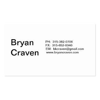Bryan Craven Tarjetas De Visita