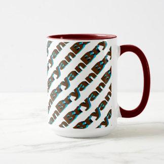 Bryan Customized Red Style 15 oz Ringer Mug