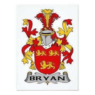 Bryan Family Crest 5x7 Paper Invitation Card