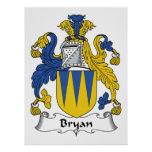 Bryan Family Crest Posters