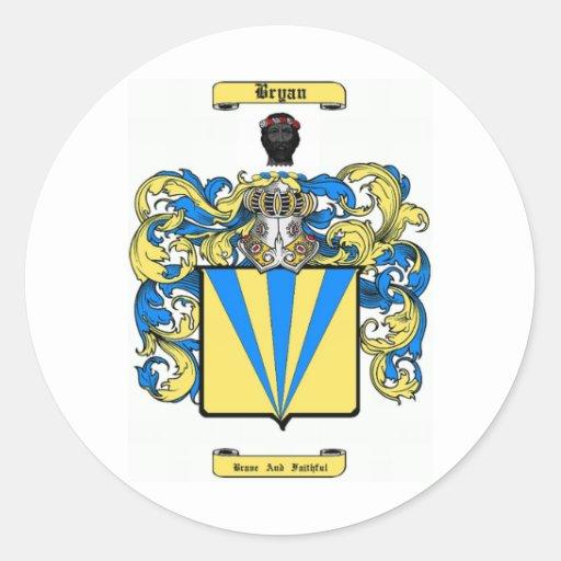 bryan (irish) round stickers