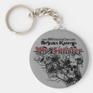 "Bryan ""Mr. Sinister"" Kemp MMA Fighter Keychain"