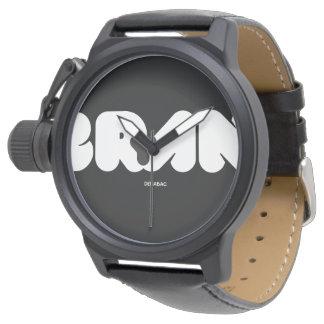 BRYAN NAME / Mens Black Watch Relojes De Mano