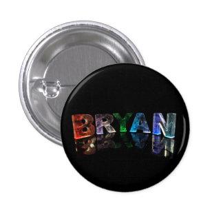 Bryan - Popular Boys Names in Lights Pinback Button