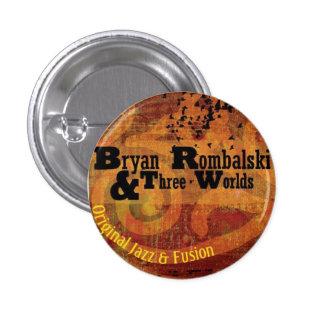Bryan Rombalski y botón de tres mundos mini Pin
