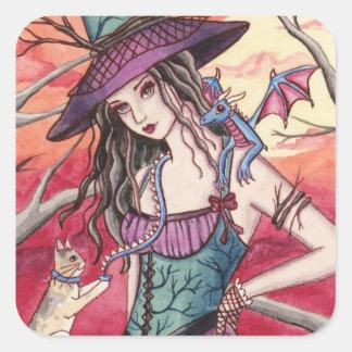 Bryanne - pegatina de la bruja del dragón