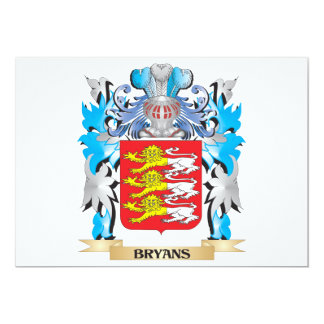 Bryans Coat of Arms 5x7 Paper Invitation Card