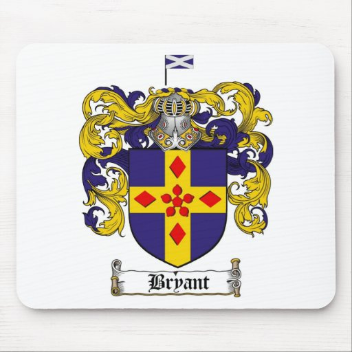 BRYANT FAMILY CREST -  BRYANT COAT OF ARMS MOUSE MAT