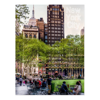 Bryant Park , NYC Postcard