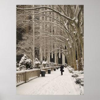 Bryant Park Snow Poster