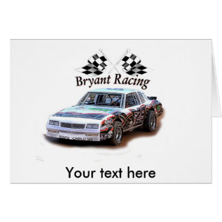bryant racing, Your text here Card