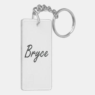 Bryce Artistic Name Design Double-Sided Rectangular Acrylic Keychain