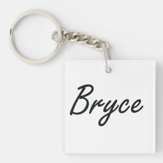 Bryce Artistic Name Design Single-Sided Square Acrylic Keychain