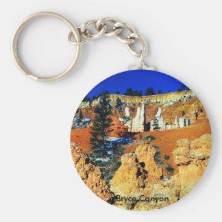 Bryce Canyon Basic Round Button Keychain
