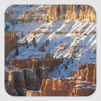 Bryce Canyon Christmas, Sunset Point Square Sticker