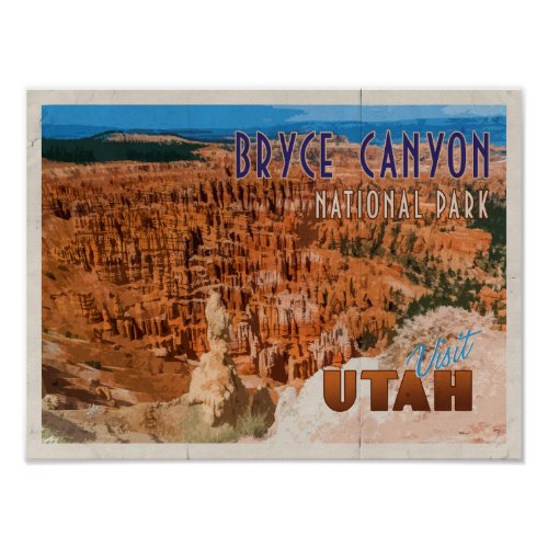 Bryce Canyon Distressed Vintage Travel