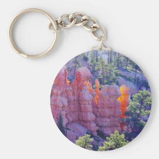 Bryce Canyon Glowing Basic Round Button Keychain