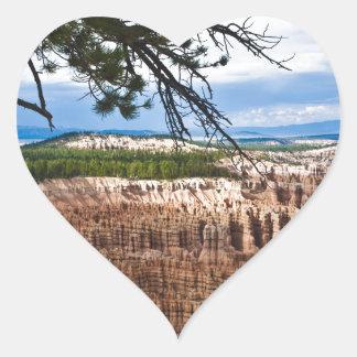 Bryce Canyon Heart Sticker