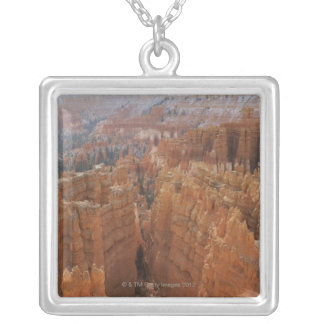 Bryce Canyon hoodoos and Thor's hammer Square Pendant Necklace