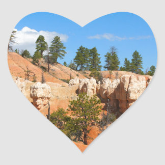 Bryce Canyon hoodoos, Utah Heart Sticker