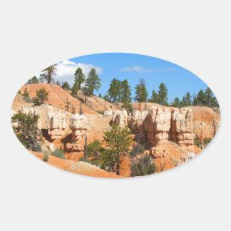 Bryce Canyon hoodoos, Utah Oval Sticker