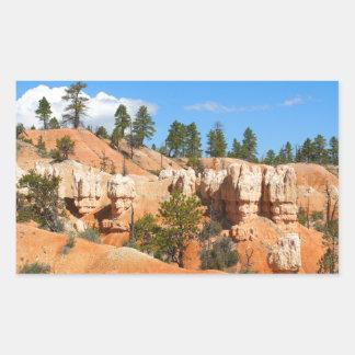 Bryce Canyon hoodoos, Utah Rectangular Sticker