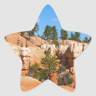 Bryce Canyon hoodoos, Utah Star Sticker
