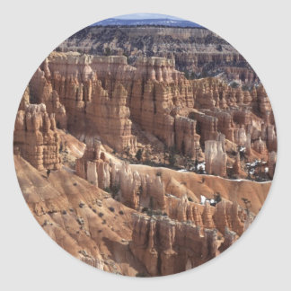 Bryce Canyon in The Winter Classic Round Sticker