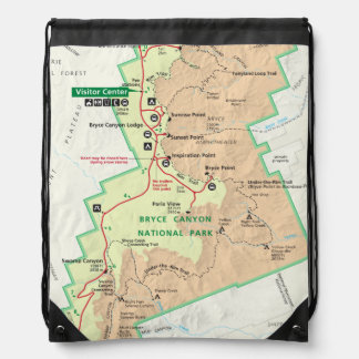 Bryce Canyon map backpack