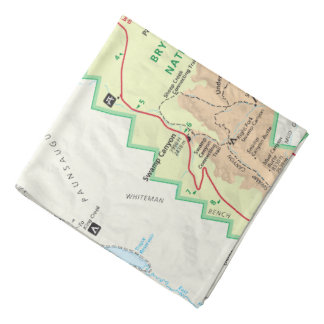 Bryce Canyon map bandana