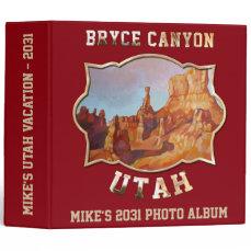 Bryce Canyon National Park 3 Ring Binder