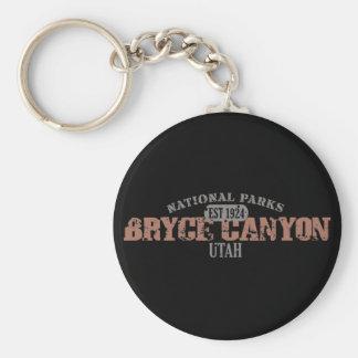 Bryce Canyon National Park Basic Round Button Keychain
