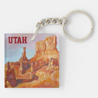 Bryce Canyon National Park Double-Sided Square Acrylic Keychain
