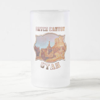Bryce Canyon National Park Frosted Glass Beer Mug
