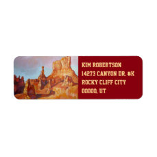 Bryce Canyon National Park Label
