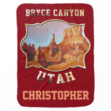 Bryce Canyon National Park Receiving Blanket