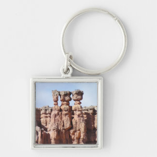 Bryce Canyon National Park Silver-Colored Square Keychain