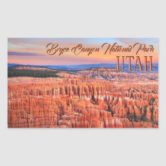 Bryce Canyon National Park Sunset Photo Rectangular Sticker