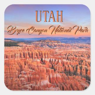 Bryce Canyon National Park Sunset Photo Square Sticker