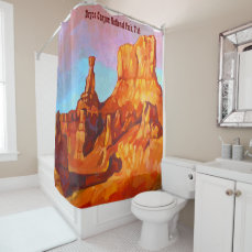 Bryce Canyon National Park - The Sentinel Shower Curtain