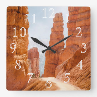 Bryce Canyon National Park Trail Square Wall Clock