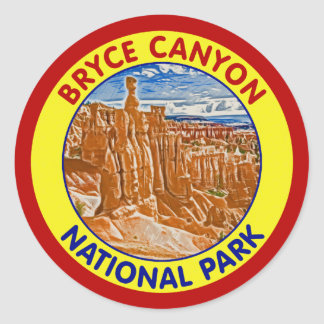 Bryce Canyon National Park, Utah Classic Round Sticker