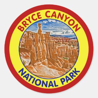 Bryce Canyon National Park, Utah Classic Round Sticker