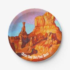 Bryce Canyon National Park - Utah Paper Plate