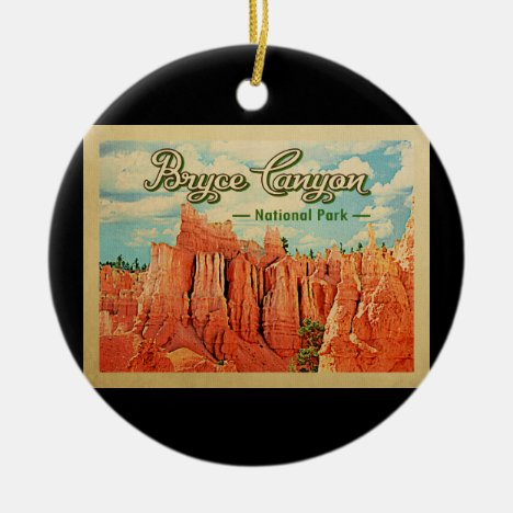 Bryce Canyon National Park Vintage Travel Ceramic Ornament