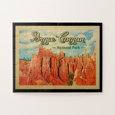 Bryce Canyon National Park Vintage Travel Jigsaw Puzzle