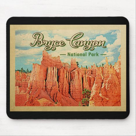 Bryce Canyon National Park Vintage Travel Mouse Pad