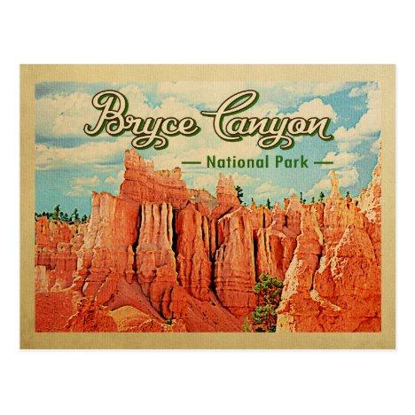 Bryce Canyon National Park Vintage Travel Postcard